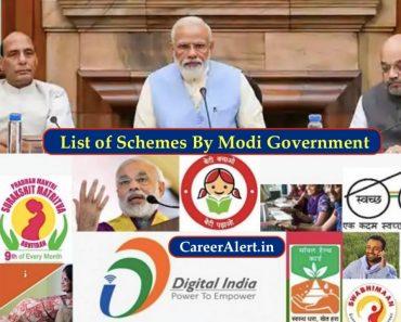 List of Schemes By Modi Government, Yojana By Modi