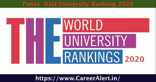 Times Higher Education Aisa Universities Ranking 2020
